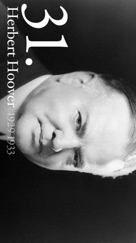 Free printable President Herbert Hoover biography and picture
